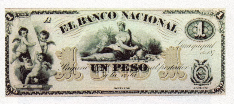 Un peso Ecuador 1592