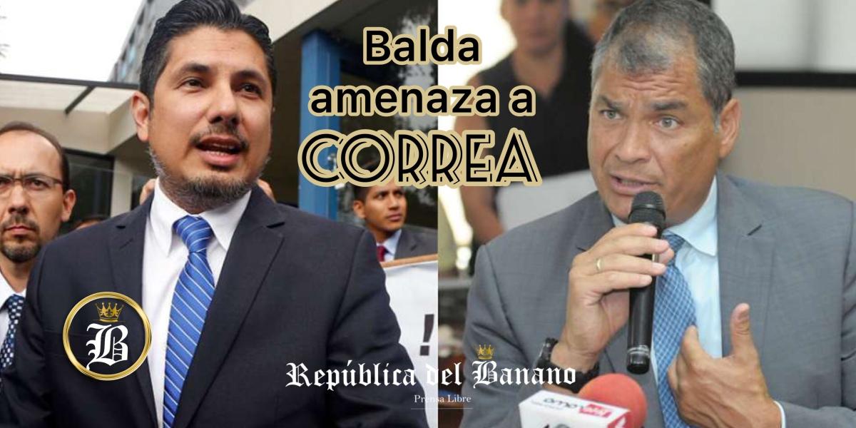 """Balda a Correa: """"Me voy a Bélgica a ver qué cara pones cuando me tengas en frente"""""""