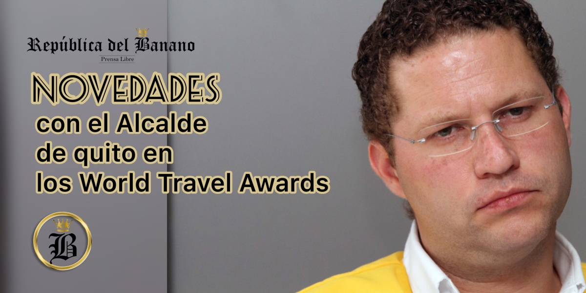 Alcalde de Quito en los World Travel Awards en estado Etílico