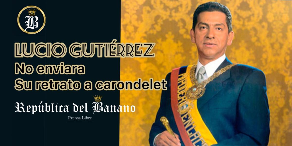Expresidente Lucio Gutiérrez no enviará su retrato a Salón Amarrillo de Carondelet