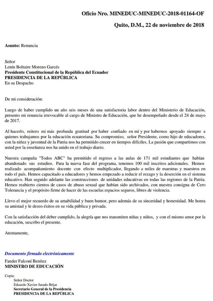 cart de renuncia- falcone- ministro de educacion- republica del banano.jpg