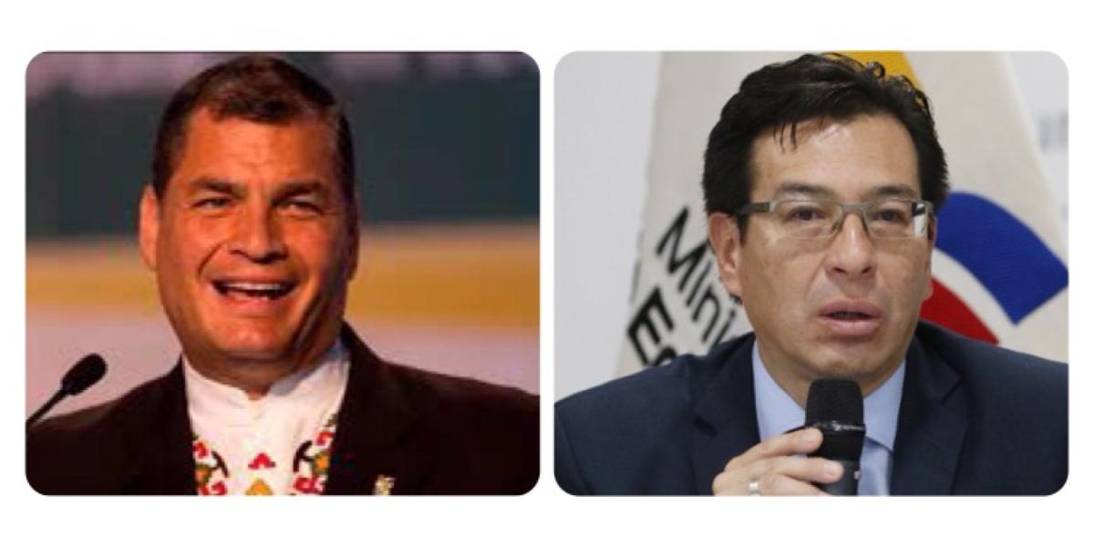 """""""Con los Judas no se pelea, ellos se ahorcan solos"""" le dice Correa a Ministro"""