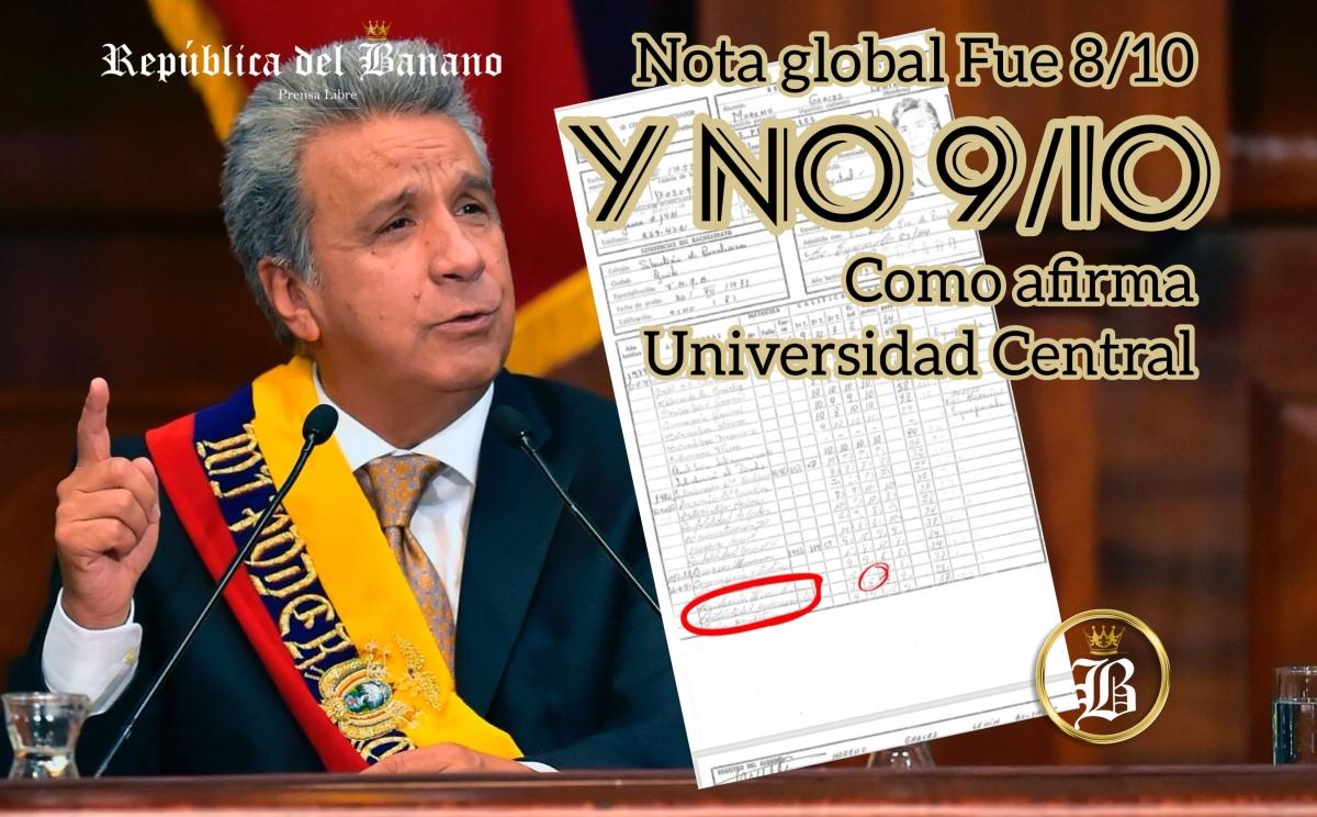 @Lenin Moreno sacó 5/10 en Contabilidad Gubernamental según récord de notas