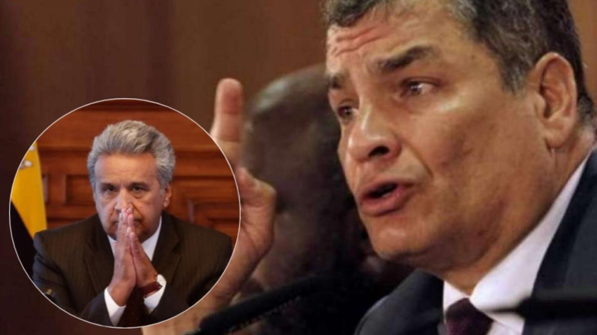 """Lenín Moreno se contradice en China, Rafael Correa le envía mensaje sobre """"cinismo"""""""