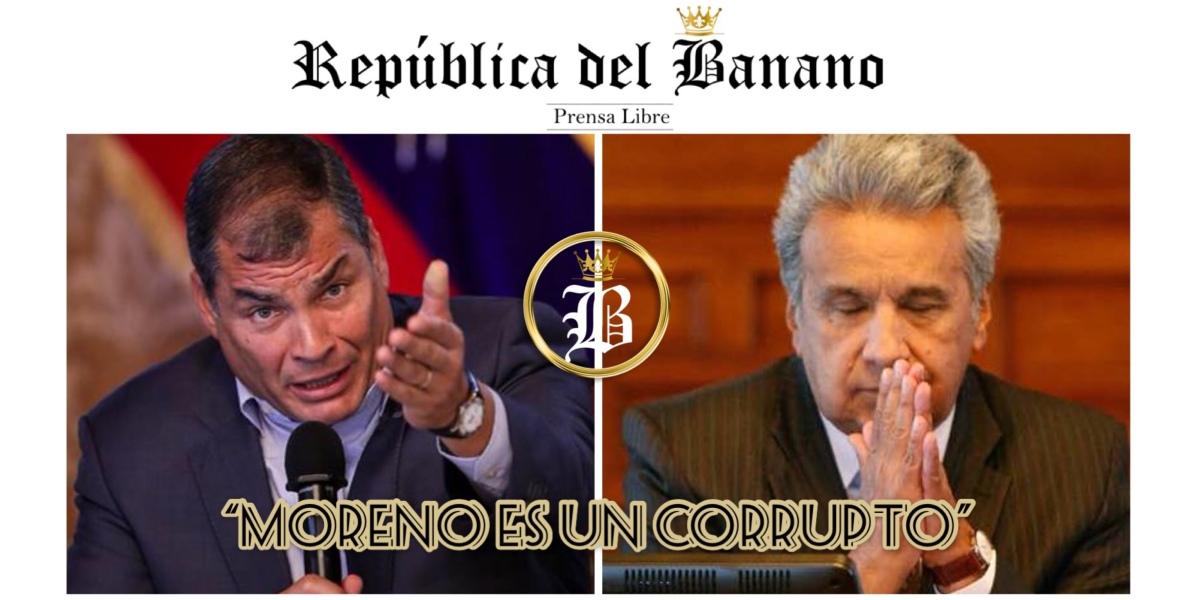 Expresidente Correa afirma tener pruebas de la corrupción de Presidente Moreno