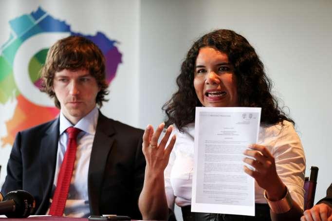 Diane Rodríguez CEO de la primera Cámara LGBT de Comercio y turismo de Ecuador junto a Phil Greham Director de la División Global de la cámara LGBT de estados Unidos NGLCC