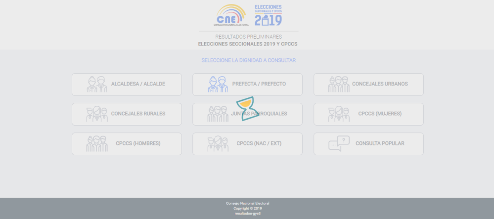 Pagina del CNE ecuador presenta lentitud 2019