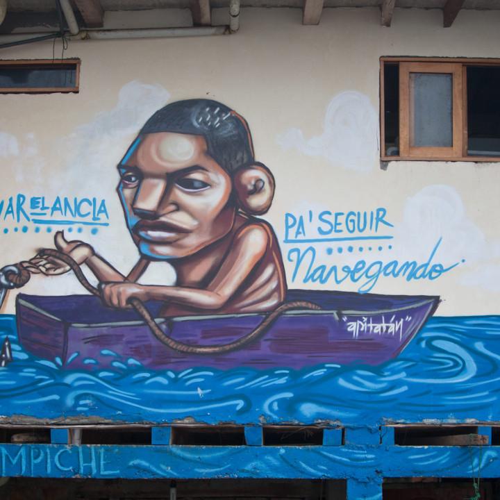 UN MURAL RACISTA - Republica del Babano - pitatán