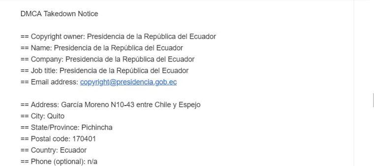 Ataque solapado bajo Copy Right de la Presidencia de la Republica del Ecuador en contra de Prensa República del Banano - Vulneración a la libertad de expresión