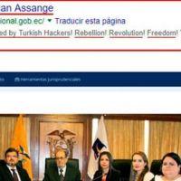 """Portal web de la Corte Constitucional fue hackeado y dejan mensaje """"Propiedad de Julian Assange"""""""