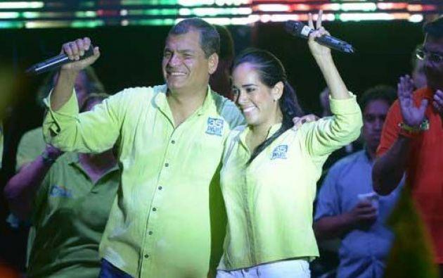 Rafael Correa y Viviana Bonilla