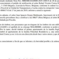 Rafael Correa cambió de domicilio en Bélgica