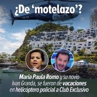 Romo y su novio Granda acusados de usar helicópteros públicos para ir a Motel