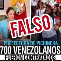 Prefecta de Pichincha rechaza campaña de desinformación