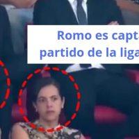 Romo es captada en partido de la liga española
