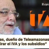 El millonario Egas y dueño de Teleamazonas sugiere subir el IVA y eliminar subsidio al gas