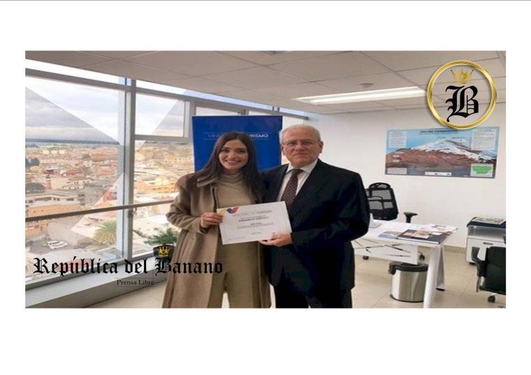 La ecuatoriana Shany Nadan fue nombrada Embajadora turística de Ecuador-Prensa Republica del Banano.