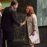 María Fernanda Espinosa se despidió de la ONU
