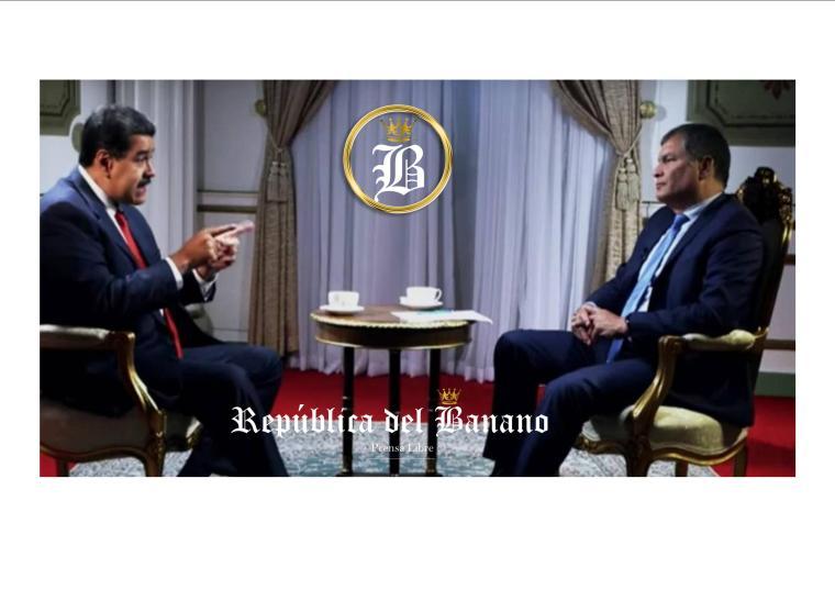 Rafael Correa mostró su apoyo al Gobierno de Nicolás Maduro-Prensa Republica del Banano.