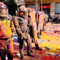Globos llenos de pintura es lo que llevarán manifestantes, circula en redes