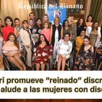 """Alcaldesa de Guayaquil auspicia el """"Miss Silla de Ruedas"""" ¿Qué opina Usted?"""