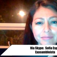 Sofía Espín analiza una demanda contra los 94 asambleístas que votaron por su destitución