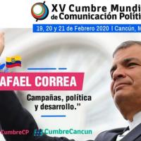 Correa abre XV Cumbre Mundial de Comunicación Política, mientras el #LawfareEcuador no para