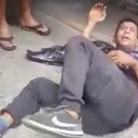 Guayaquileños intentan quemar vivo a Venezolano que apuñaló a mujer por la U. Estatal