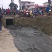 Las aguas putrefactas fueron enviadas al balneario de Salinas en Carnaval