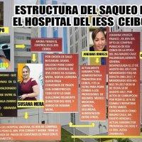 Circula la estructura del saqueo en el Hospital del IESS