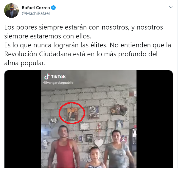 Foto del expresidente Rafael Correa