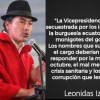 Leonidas Iza solicita que la terna de Moreno responda por las muertes de Octubre y del #Covid19