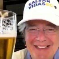 Lasso, candidato presidencial, invita a alcoholizarce a ecuatorianos en medio del #Covid19