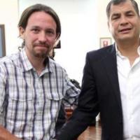Vicepresidente de España expresa respaldo a Correa y sostiene que es perseguido político de Ecuador