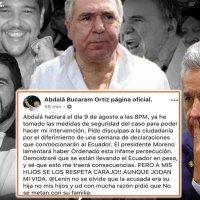 Bucaram afirma que Moreno se arrepentirá por ordenar persecución contra sus hijos
