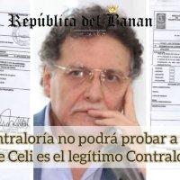 Documentos impiden que Contraloría pruebe a Fiscalía que Celi es Contralor