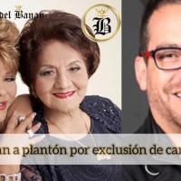 Plantón en contra del Ministro Velasco, por irregularidades en el premio Eugenio Espejo