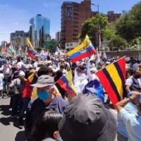 """""""Respeto a la Democracia"""", exigen decenas de ciudadanos en los exteriores del CNE"""
