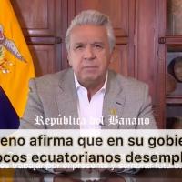 El Presidente, con 8% de credibilidad, afirmó que casi 1 millón de ecuatorianos salió del desempleo