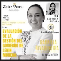 #EntreVoces| Martes 18/May 20h00, Facelive: Gabriela Rivadeneira realizará una Evaluación de la gestión del gobierno de Moreno